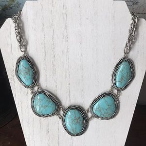 Premier Designs Boho Chic faux turquoise necklace